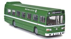 Leyland National MkI Long Diecast Model Bus by EFE 17223 This Leyland National MkI Long Diecast Model Bus is Green and features working wheels. It is made by EFE and is 1:76 scale (approx. 14cm / 5.5in long). #EFE #ModelBus #Leyland