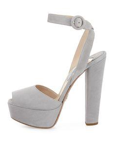366699730f5c Prada platform sandal in suede. 5.3