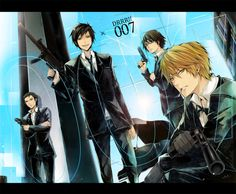 Shizuo, Shinra, and Izaya :) and is that Kasuka in the back?