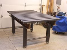 Welding Table top made with upside down placed channel steel