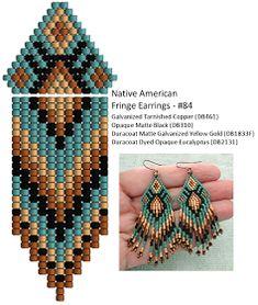 Linda's Crafty Inspirations: Fringe Earrings #84 - Eucalyptus & Copper