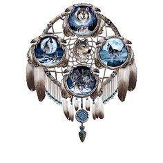 Shop The Bradford Exchange for Moonlit Majesty Wall Decor. Ancient traditions are filled with stories of the mysterious wolf, and the power of his howls as they filled the night. Now, experience the moonlit world of the wolf with this first-of-its-kind. Native American Fashion, Native American Art, Wolf Dreamcatcher, Dreamcatcher Tutorial, Theme Galaxy, Wolf Sculpture, Wolf Artwork, Eagle Art, Bradford Exchange