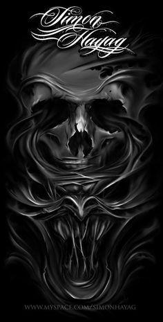 All About Art Tattoo Studio Rangiora. Quality work by Professional Artist. Evil Skull Tattoo, Skull Tattoo Design, Skull Design, Skull Tattoos, Body Art Tattoos, Lowrider Art, Skull Wallpaper, Weed Wallpaper, Skull Island