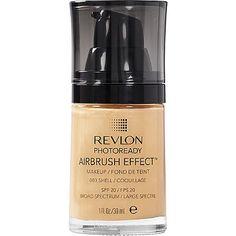 Revlon Photoready Airbrush Effect Makeup with SPF 001 Ivory, 1 Fl Oz, Beige Mocha, Makeup Tips, Beauty Makeup, Makeup Ideas, Face Peel Mask, Revlon Makeup, Drugstore Makeup, Cream For Oily Skin, Shell