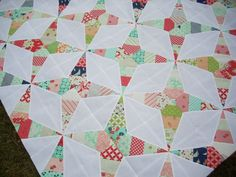 firecrackers quilt  Uses 30 degree ruler!