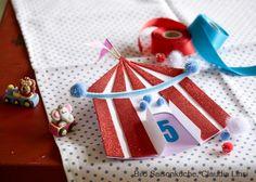 Geburtstags-Einladungskarte Zirkuszelt