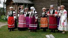 Estonian Seto women dress in traditional ethnic folk costumes. The Seto historical area of inhabitation is cut in two by the Russian visa regime, dividing numerous relatives. Photo by the Estonian Ministry of Foreign Affairs.