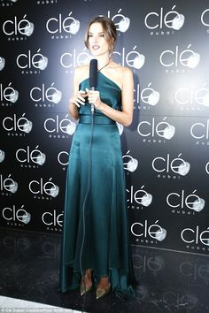 Gorgeous! Alessandra Ambrosio also joined the festivities and looked stunning in a blue st...