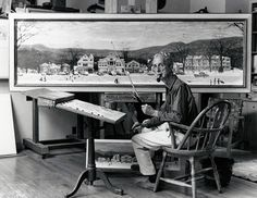 Norman Rockwell paints a Christmas Town   how wonderful!