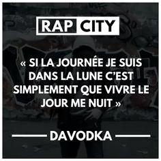 """""""Si la journée je suis dans la lune c'est simplement que vivre le jour me nuit"""" Famous Love Quotes, Best Quotes, Rap Quotes, Funny Quotes, Best Punchlines, Cute Sentences, Phrase Rap, Rap City, Reflection Quotes"""
