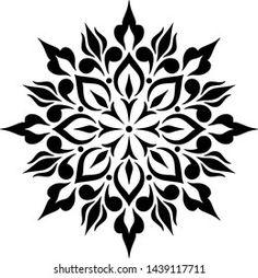 Geometric Mandala Tattoo, Mandala Artwork, Mandala Tattoo Design, Mandala Dots, Mandala Pattern, Stencil Patterns, Stencil Designs, Images Noêl Vintages, Stippling Art