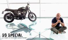 """#TriumphSoSpecial #8 - """"La filosofia giusta per una special, e per una moto in genere, dovrebbe essere: quello che non c'è, non si rompe. Ecco perché amo la moto minimalista, con poco o nulla appoggiato alla meccanica e alla ciclistica."""" Andrea Quaglia, Fridemoto Novara"""