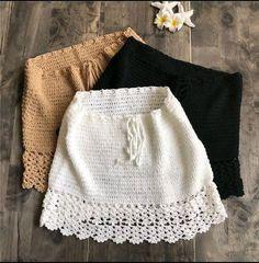 Elegant Handmade Cotton Crochet High Waist Bow Tie Beach Bikini Bottoms Mini Skirts Source by gels_boutique < Br > Crochet Skirts, Crochet Clothes, Diy Clothes, Crochet Top Outfit, Crochet Outfits, Cotton Crochet, Cotton Lace, Crochet Lace, Free Crochet Bag