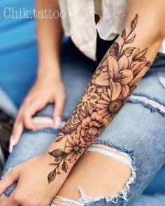 tattoos for women ~ tattoos ; tattoos for women ; tattoos for women small ; tattoos for moms with kids ; tattoos for guys ; tattoos for women meaningful ; tattoos for daughters ; tattoos with kids names Best Sleeve Tattoos, Body Art Tattoos, Cool Tattoos, Half Sleeve Tattoos For Women, Tatoos, Women Sleeve, Arm Tattoos For Women Forearm, Flower Sleeve Tattoos, Unique Women Tattoos