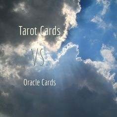Ever wonder what the difference between tarot cards and oracle cards are? I explain it all in today's post!