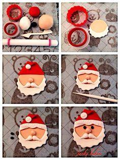 New cupcakes christmas fondant papa noel Ideas Christmas Cupcake Toppers, Christmas Cake Designs, Christmas Cake Decorations, Fondant Decorations, Christmas Sweets, Holiday Cakes, Christmas Cooking, Christmas Goodies, Christmas 2019