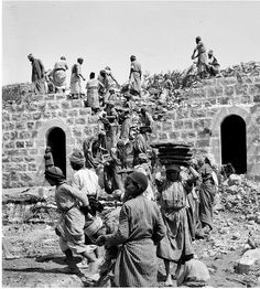 Building a new house. 1900. | Ramallah, Palestine.  | 2014 and Palestiians are still building houses after the Israeli government bulldozes their family home,