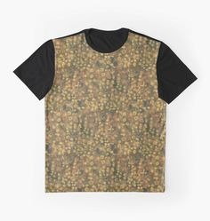 """""""Golden meadow, abstract floral motif, fiber art"""" Graphic T-Shirts by clipsocallipso 