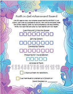 Faith in God Achievement Record