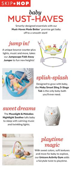 Skip Hop& Must-Haves Made Better& are ready to guide you through all of baby& milestone moments. Toddler Gifts, Baby Gifts, Baby Number 2, Baby Bundles, Preparing For Baby, Get Baby, Baby Must Haves, Everything Baby, Baby Needs