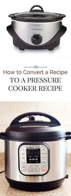 How To Convert A Recipe Into A Pressure Cooker (Instant Pot) Recipe I'm often asked how to convert a recipe into a pressure cooker recipe. So the last time I converted a recipe I took notes, and today I'm sharing my tips. Power Cooker Recipes, Pressure Cooking Recipes, Crock Pot Cooking, Cooking Tips, Cooking Steak, Cooking Videos, Cooking Games, Crockpot Meals, Cooking Classes