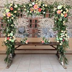 The scene is set by Spriggs Florist at Upwaltham Barns, West Sussex
