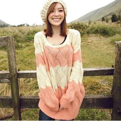 'Tokyo Fashion – Color-Block Pointelle-Knit Sweater'
