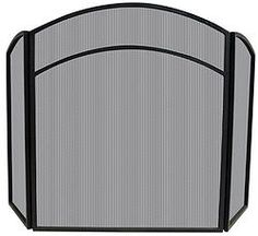 Uniflame® Black 3-Panel Arched Top Fire Screen