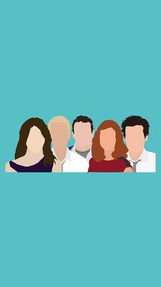 Robin, Barney, Marshall, Lily, Ted