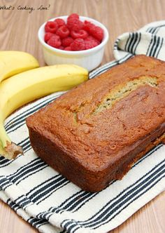 Raspberry Banana Bread - Whats Cooking Love?