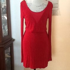 Red , sexy dress Hot red short dress , very cute never worn . Red sparkling , spandex Guess Dresses