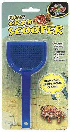 Zoo Med Labs Litter Hermit Crab Scooper Perforated Scoopers Neon Colors Clean