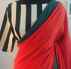 Striped croptop for a saree blouse