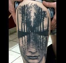 Znalezione obrazy dla zapytania tree face tattoo