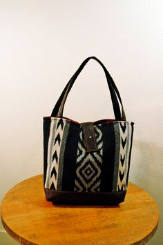Ann Shoulder Bag in Black and Grey Wool by appetite on Etsy, $104.00