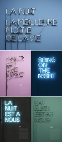 All captials, no serifs, not too condensed or expanded and set to the left rather than centre. Would usually look quite boring but neon lighting makes it interesting to look at Lettering, Typography Prints, Typography Poster, Graphic Design Typography, Typography Inspiration, Graphic Design Inspiration, Neon Rosa, Typographie Fonts, Deco Luminaire