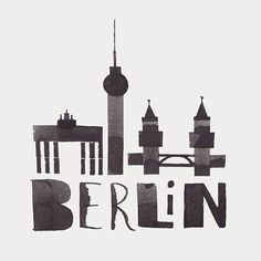 Berlin #calligraphy #city #berlin #germany #illustration #design #ink #drawing #art #instaart #travel #architecture