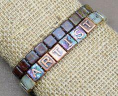 Colorful Copper DIY Bracelet | AllFreeJewelryMaking.com
