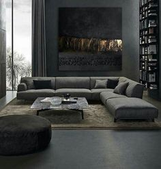 25 Elegantly Stylish Masculine Living Room Ideas with Bold Nuance Mid Century Modern Living Room Bold Eleg Elegantly ideas Living Masculine Nuance Room Stylish Living Room Sofa Design, Living Room Sectional, Interior Design Living Room, Living Room Designs, Sectional Sofas, Interior Livingroom, Sofa Bed, Masculine Living Rooms, Living Room Modern