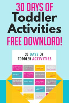 30 Days Of Indoor Toddler Activities To Do At Home -