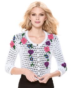 Crochetemoda: Casaqueto Branco de Crochet