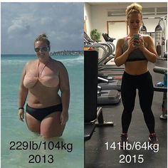 Wow @dennisaperski congratulations on your amazing transformation! Let's show her some love❤ _______________________ Grab your FREE fitness program by clicking the link in our profile @HowToTransform .