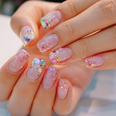 Confetti glitter nails Confetti glitter nails Finest Image For nails acrylic coffin… Fancy Nails, Trendy Nails, Cute Nails, My Nails, Cute Acrylic Nails, Glitter Nail Art, Glitter Party, Confetti Nails, Korean Nail Art