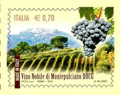"vino-nobile-DOCG-The-Stamp - Montepulciano, the Vino Nobile DOCG stamp, first of a fifteen stamps series, dedicated to the  ""made in Italy"" for its DOCG wines, and the culinary excellence in Italy."