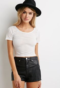 Shadow Stripe Tee | Forever 21 - 2000115226