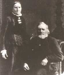 "Laura Louise Colby Ingalls and Lansford Whiting Ingalls, the Grandma (""dancing grandma"") and Grandpa of Little House in The Big Woods."