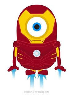 Minions as Marvel DC Comics superheroes ♥ Iron Man