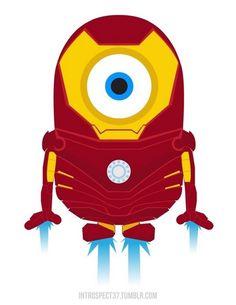 Minions as Marvel DC Comics superheroes ♥ Iron Man