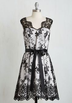 Gala Glam Dress. Impromptu invite to a formal fete? #black #modcloth