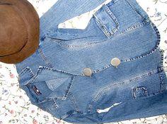 Jeans-jacket La Strada size 16 US von treasuresmakeshappy auf Etsy